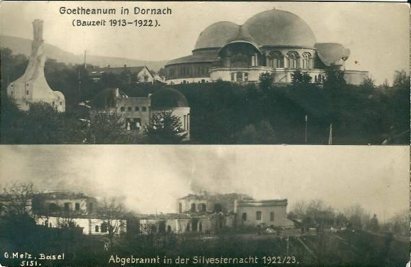dornach-goetheanum-brand-seltene-fotokarte-antroposophen